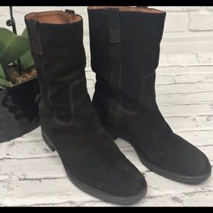 J.Crew Chocolate Suede Ankle Boots